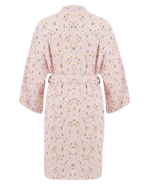 Mom Wildflower Muslin Gown -  pink