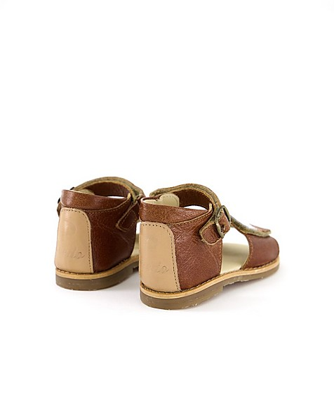 Kids Multi-Stripe Leather Shoes -  assorted