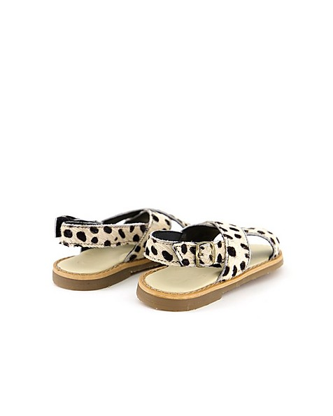 Girls Pony Hair Sandals -  assorted