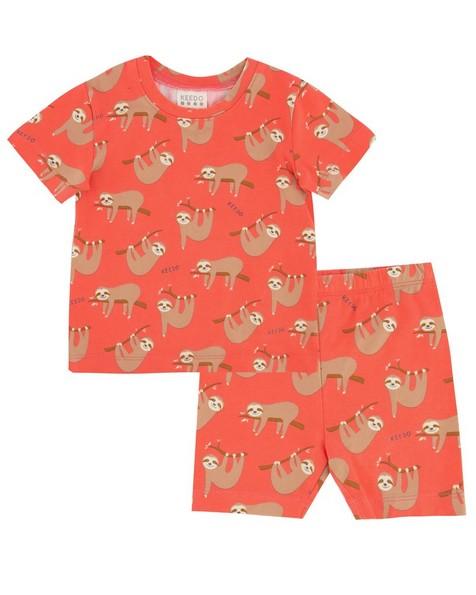 Baby Girls Slumber PJ Set -  coral