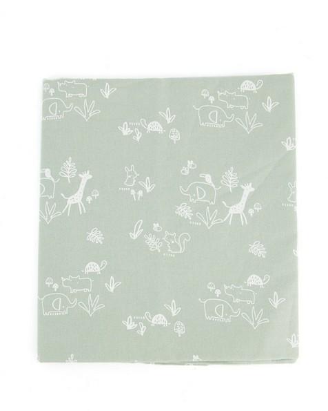 Sage Woven Cot Sheet -  green