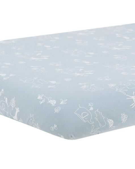 Blue Woven Cot Sheet -  blue