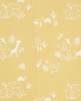 Mustard Woven Cot Sheet -  yellow