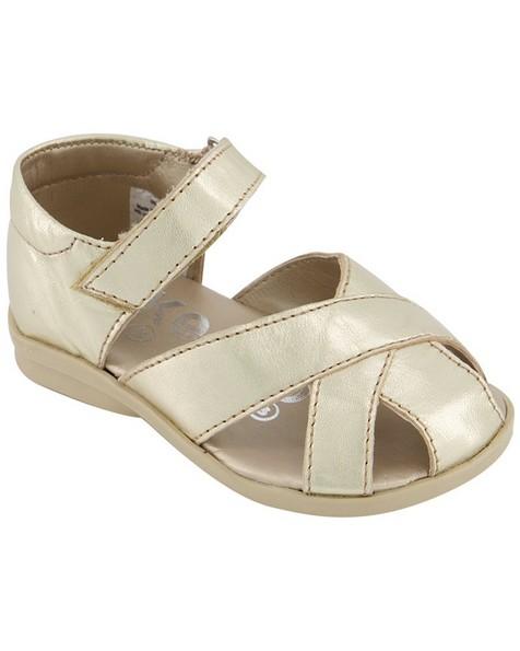 Girls Gold Sandal -  gold