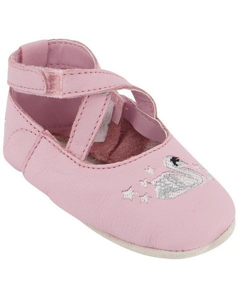 Baby Girls Swan Soft Sole -  lilac