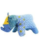 Rhino Boy Soft Toy -  blue