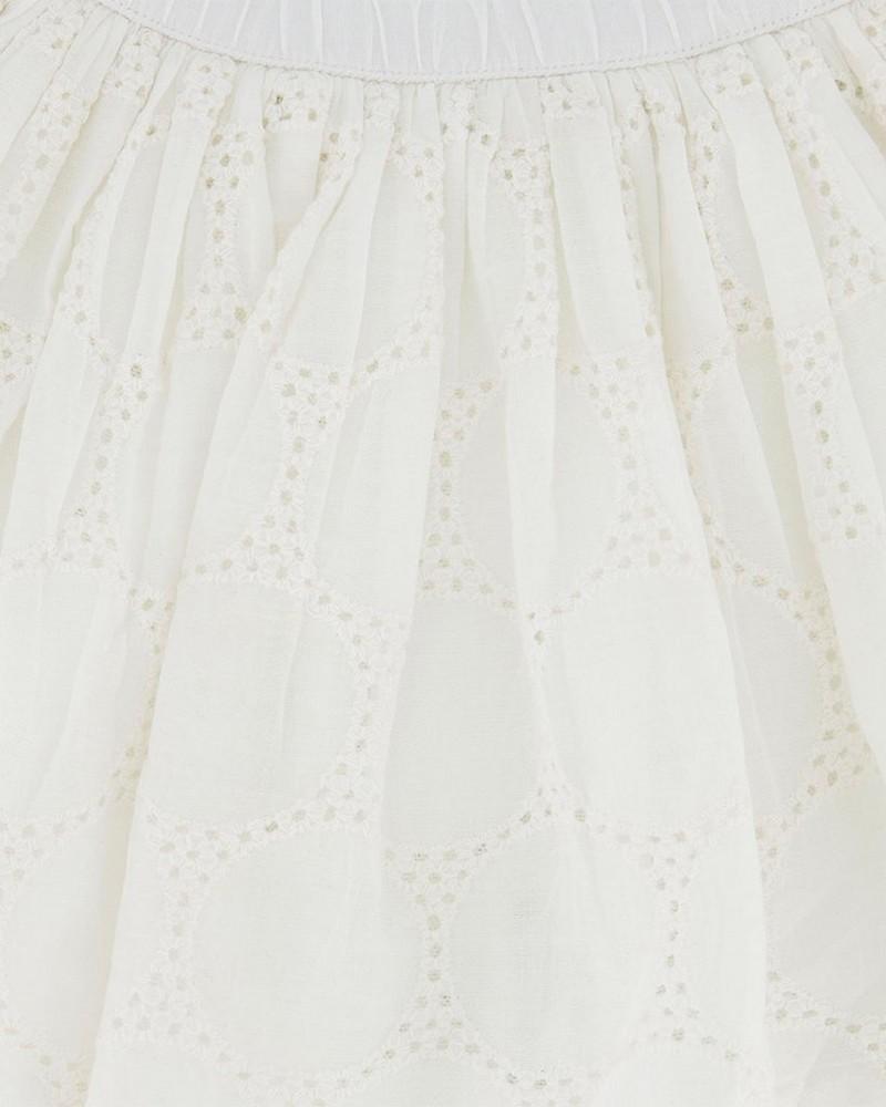 Girls Alexia Reversible Skirt -  white