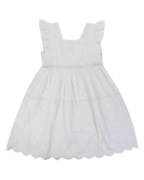 Girls Penelope Anglaise Dress -  white