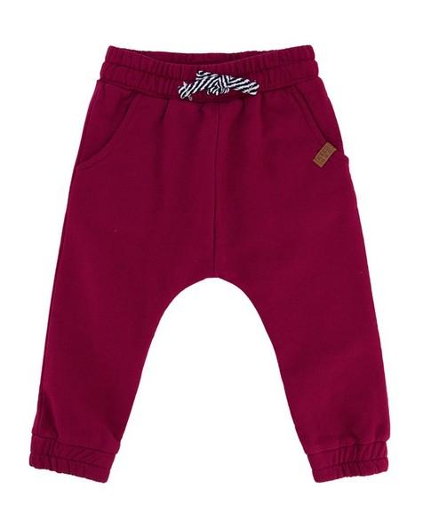 Baby Boys Maroon Jogger -  oxblood