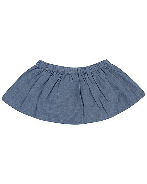Baby Girls Savanna Denim Bloomer Skirt -  midblue