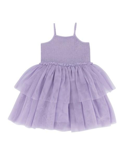 Girls Jess Sequin Dress -  purple