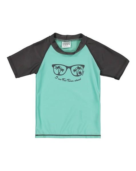 Boys Shark Sun Top -  mint