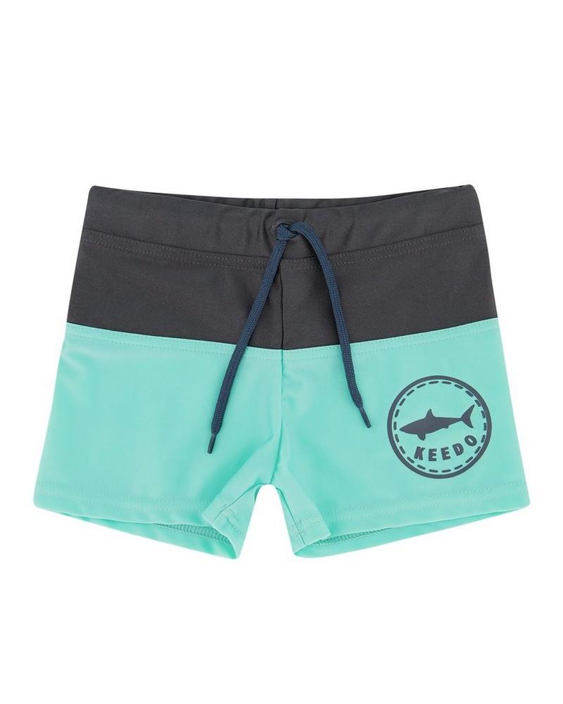 Boys Shark Trunks -  mint
