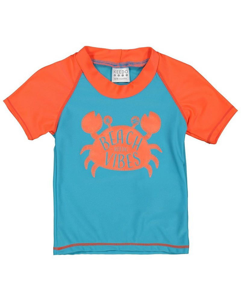 Baby Boys Crab Sun Top -  seablue
