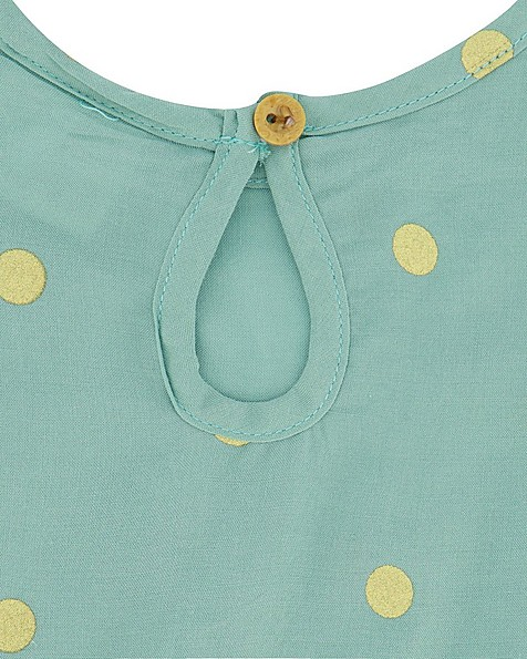 Baby Girls Glitzy Dress -  green