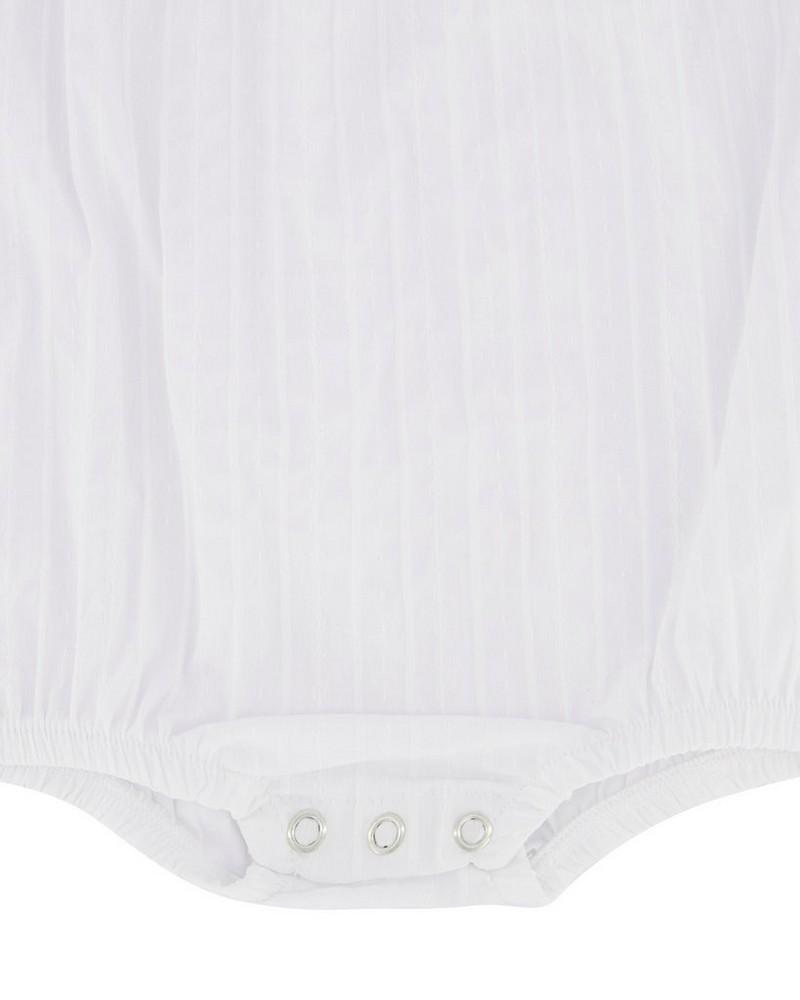 Baby Girls Lauren Romper -  white