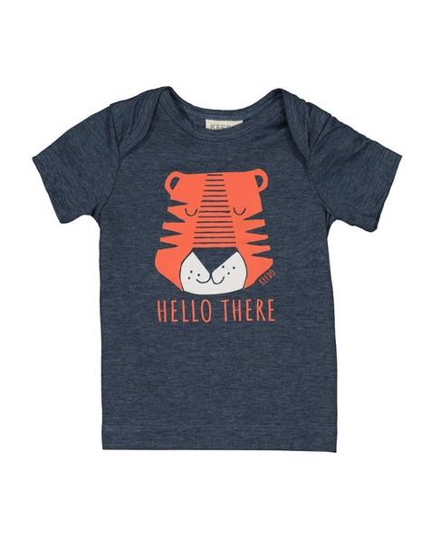 Baby Boys Little Tiger Tee -  navy