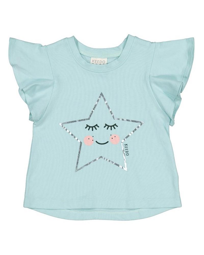 Baby Girls Starlet Top -  aqua