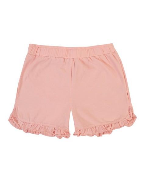 Girls Peach Frilly Shorts -  lightpink