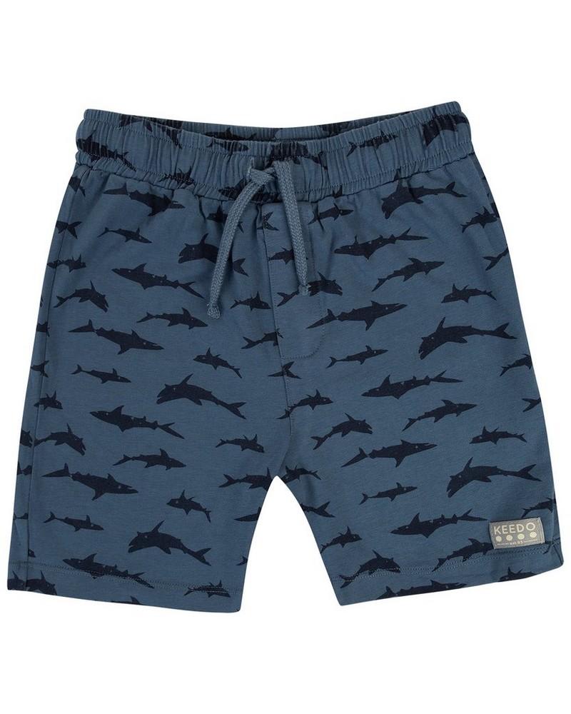 Boys Shark Shorts -  periwinkle