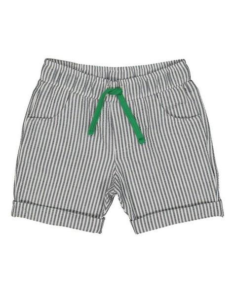 Baby Boys Seersucker Shorts -  white