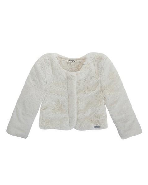 Girls Skylar Fur Jacket  -  milk