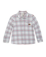 Boys Hudson Check Shirt -  white