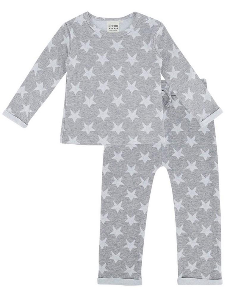 Baby Girls Paxton Star Set  -  lightgrey