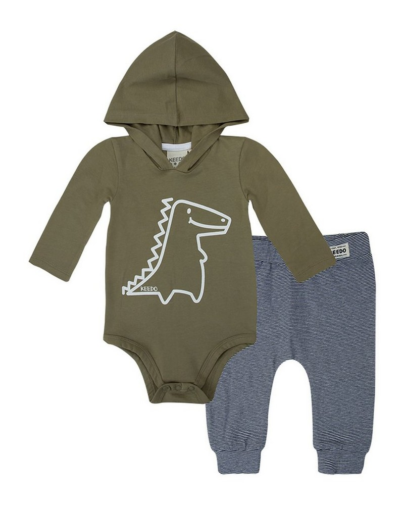 Baby Boys Hugo Croc Set  -  sage