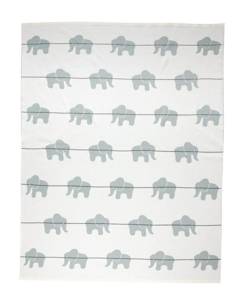 Elephant Blanket -  midblue