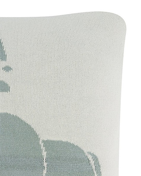 Square Elephant Cushion -  midblue