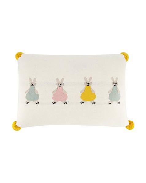 Bunny Cushion -  milk