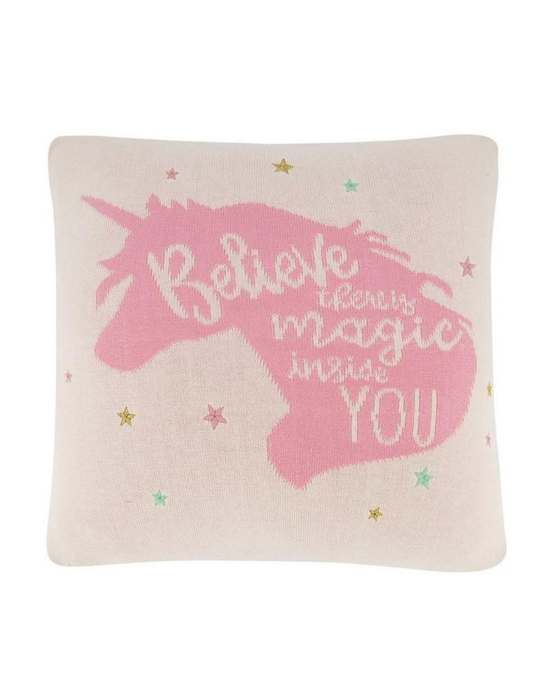 Graphic Unicorn Cushion -  milk