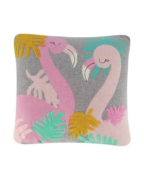 Flamingo Neon Cushion -  midblue