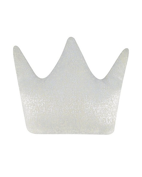 Silver Crown Shaped Cushion -  silvergrey