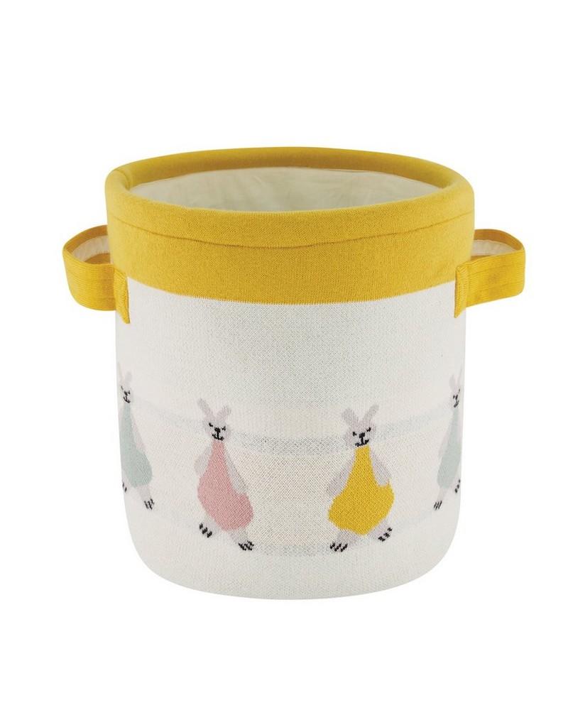 Bunny Knit Basket -  milk