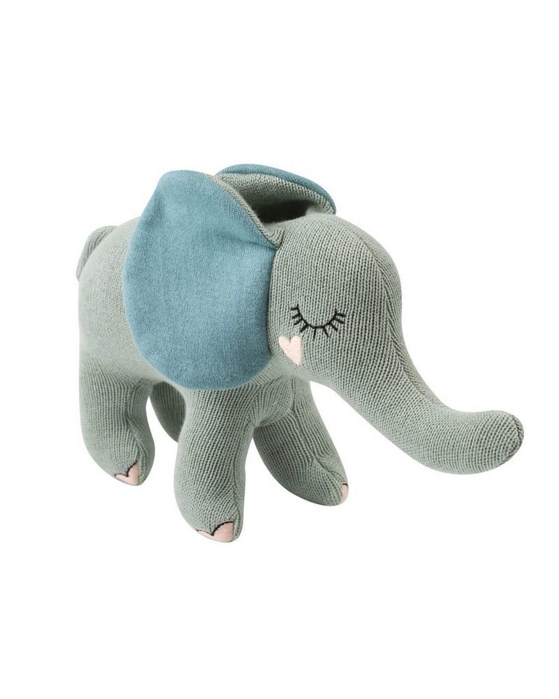 Plush Elephant Toy -  midblue