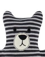 Stripe Bear Toy -  black