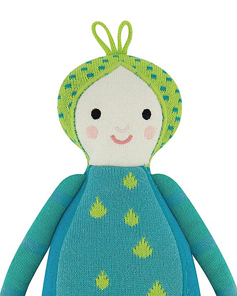 Blue Winged Doll -  turquoise