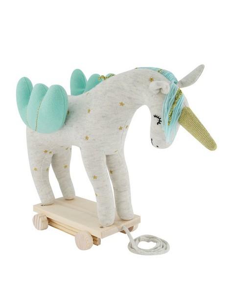 Unicorn Toy on Wheels -  milk