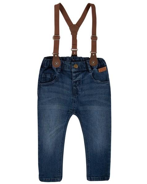 Baby Boys Scott Suspender Jeans -  midblue