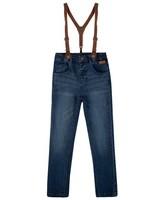 Boys Scott Suspender Jeans -  midblue