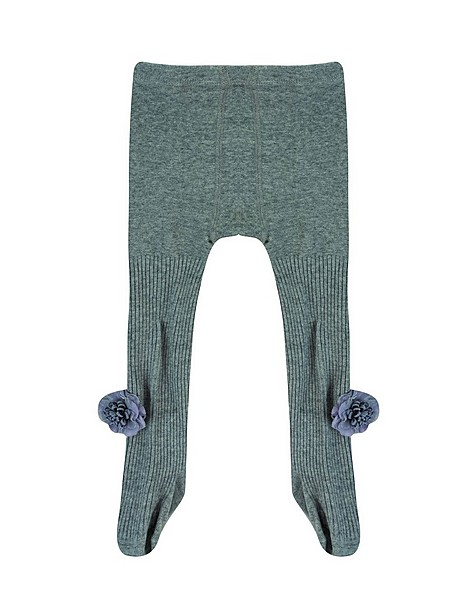 Baby Girls Mylie Knitted Tights -  lightgrey