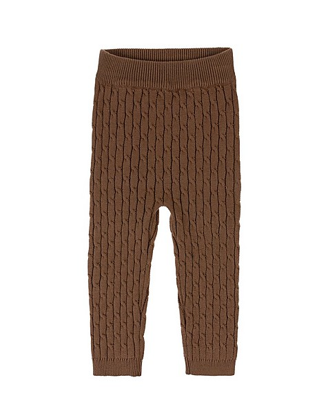 Baby Boys Andy Knitted Leggings -  brown