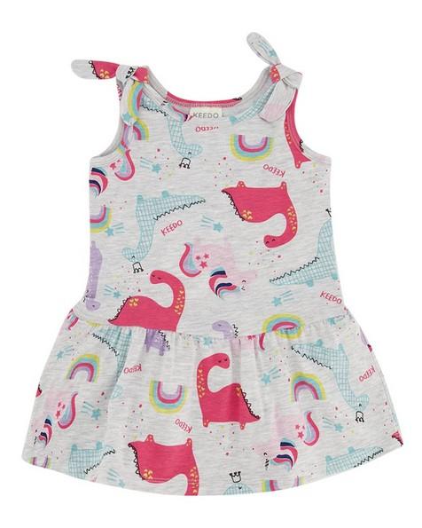 Baby Girls Dino Stripe Set  -  no-colour