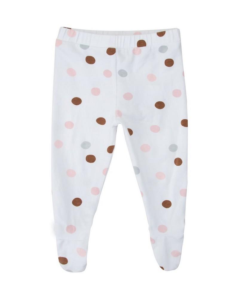 Baby Girls Angie Dot Leggings  -  white
