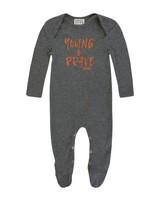 Baby Boys Miles Rib Grow -  charcoal
