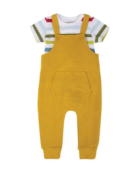 Baby Boys Jake Dungi Set -  chartreuse