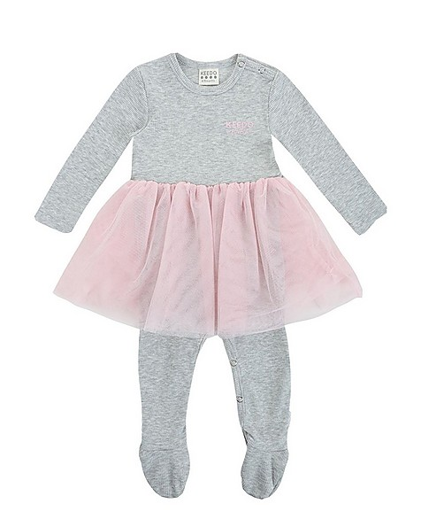 Baby Girls Olive Tutu Grow -  lightgrey