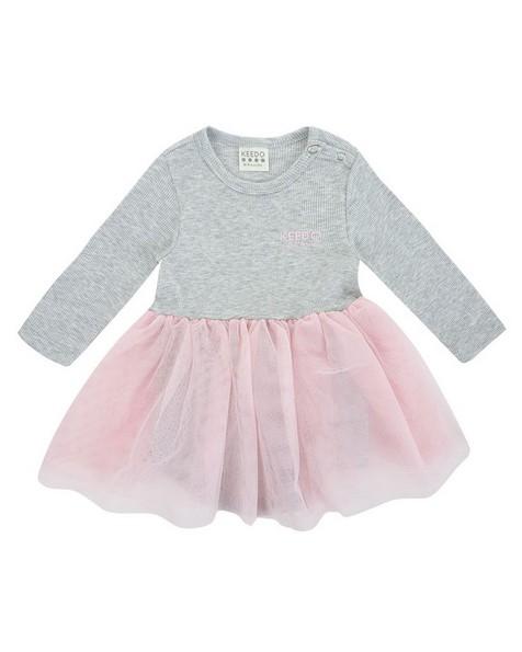 Baby Girls Olive Tutu Dress -  lightgrey
